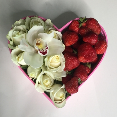 Inimă mică cu Căpșuni pentru copii