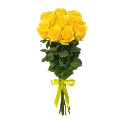 """Buchet din 11 trandafiri galbeni """"Ecuador"""""""