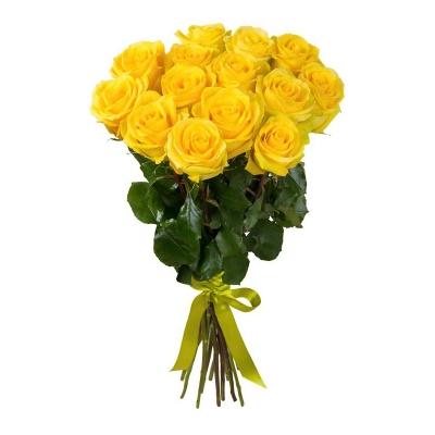 """Buchet din 15 trandafiri galbeni """"Ecuador"""""""