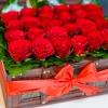 Lădiță mare cu trandafiri