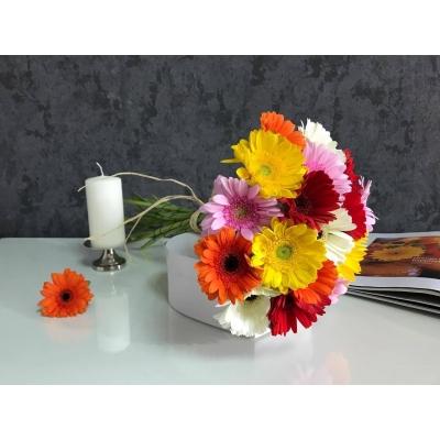 Buchet din 19 gherbere multicolore
