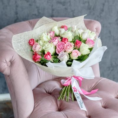 35 Trandafiri Mix Roz 30-40 cm