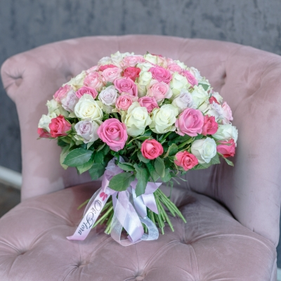 101 Trandafiri Mix Roz 30-40 cm