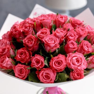 51 Trandafiri Roz 50 cm