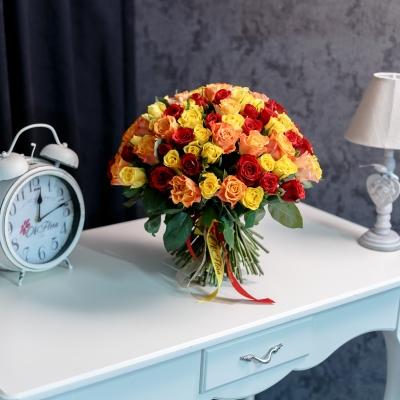 101 Trandafiri Mix Orange