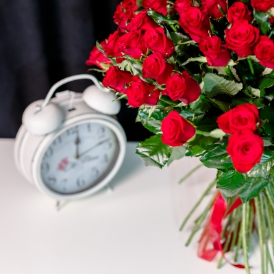 101 Trandafiri Roșii 50-60 cm