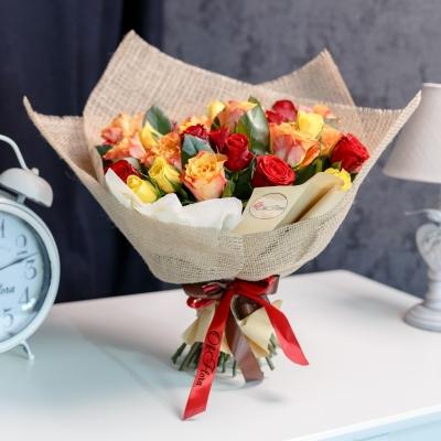 35 Trandafiri Mix Orange