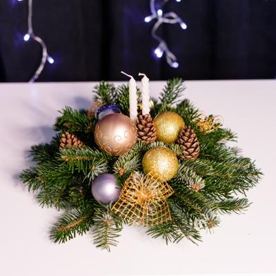 Compoziție Aurie de Crăciun