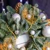 Cunună de Crăciun Argintie