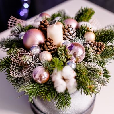 Cutie de Lux de Crăciun Roz