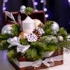 Compoziție de Crăciun în Cufăr Mediu