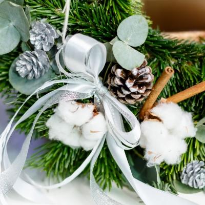Cunună de Crăciun Albă