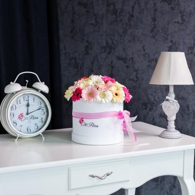 Cutie de Lux Mare cu Gherbere Mix Roz