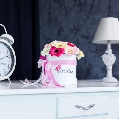 Cutie de Lux Mică cu Gherbere Mix Roz