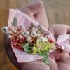 Buchet Roz din Orhidei și Bumbac