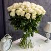 51 Trandafiri Albi 80-90 cm