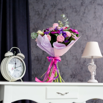 Buchet Roz-Mov-Fuchsia