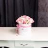 Cutie de Lux Medie cu Lalele Alb-Roz