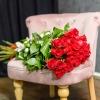Buchet din Trandafiri 80-90 cm și Orhidee