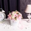 Сutie de Lux Albă Medie cu Flori Mixte