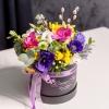 Cutie de Lux Neagră cu Flori Mixte de Primăvară