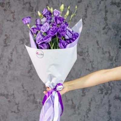 Buchet din 11 Eustome Violete