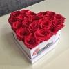 Inimă mică cu Trandafiri Roșii