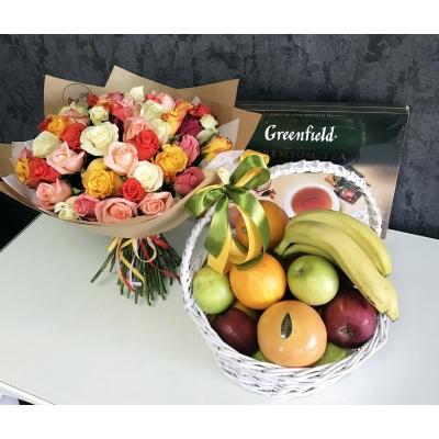 101 Trandafiri+Coș Fructe= Ceai Greenfield