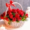 "Coș din 25 trandafiri roșii ""Ecuador"""
