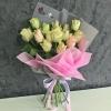 Buchet din 15 Trandafiri Roz-Pal