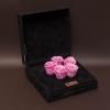 5 Trandafiri Criogenați Roz în Cutie de Catifea