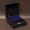 9 Trandafiri Criogenați Albaștri în Cutie de Catifea