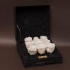 9 Trandafiri Criogenați Albi în Cutie de Catifea