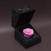Trandafir Criogenat Inimă Roz în Cutiuță de Catifea