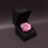 Trandafir Criogenat Roz Mare în Cutiuță de Catifea