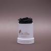 Trandafir Criogenat Negru în Mini-Cutie Albă