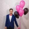 Baloane roz si negru cu heliu
