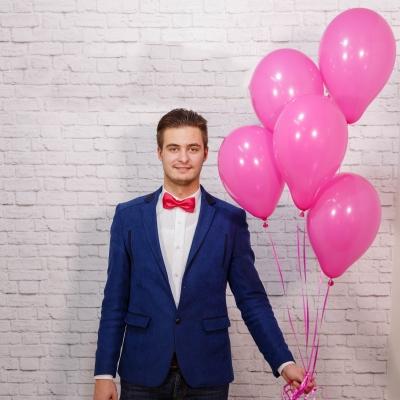 Baloane roz cu heliu