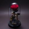 Trandafir Criogenat Roșu Mare în Cupolă Mare