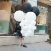 Mix din baloane alb negru cu heliu