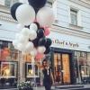 Mix din baloane alb,negru si roz cu heliu