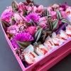 Inimă Mare cu Flori Mixte și Raffaello