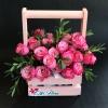 Lădiță cu Trandafiri Roz