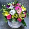 Cutie cu Flori Verde- Fuchsia