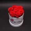 Cutie Mică cu 11 Trandafiri Roșii