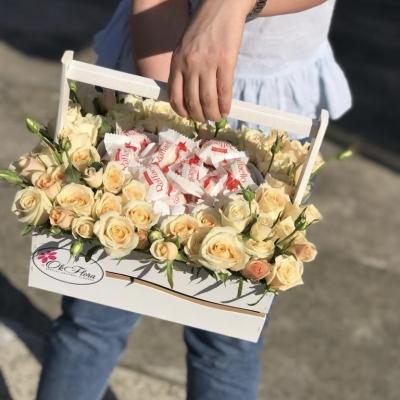 Lădiță Mare cu Trandafiri și Inimă din Raffaello