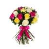 Buchet din Trandafiri Multicolori 50-60 cm