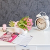 Buchet din 25 lalele roz