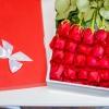 25 Trandafiri Rosii in cutie