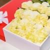 25 Trandafiri Albi in cutie